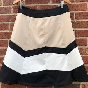 The Limited Size Med Flare Skirt Color Block Aline